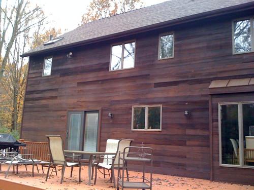 Exterior cedar stain flickr photo sharing for Exterior cedar siding stain colors