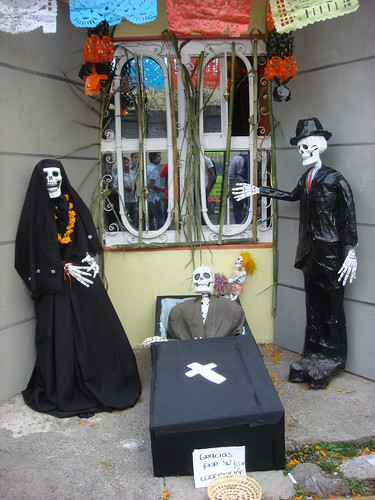 A typical exhibit at the day of the dead festival, Mexico.