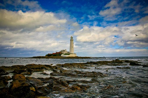 St Mary's Lighthouse, Whitley Bay, Tyneside, England
