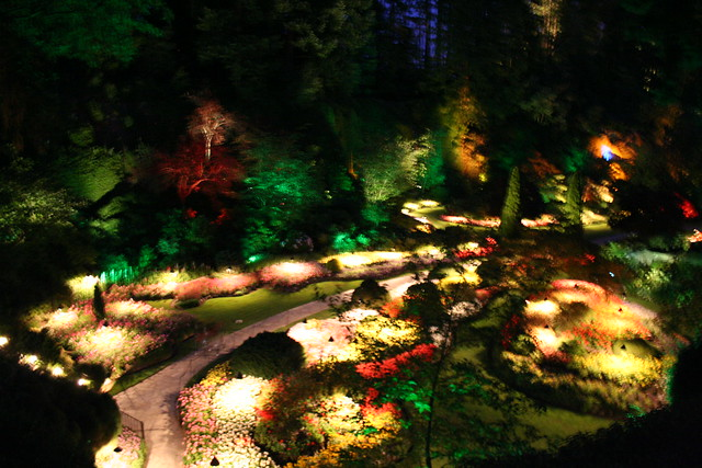 butchart gardens at night flickr photo sharing