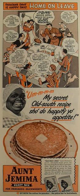 1940s AUNT JEMIMA Pancake Mix Vintage Illustration Advertisement Comic (3)