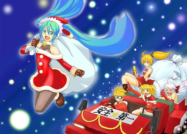 hatsune miku christmas wallpaper - photo #33