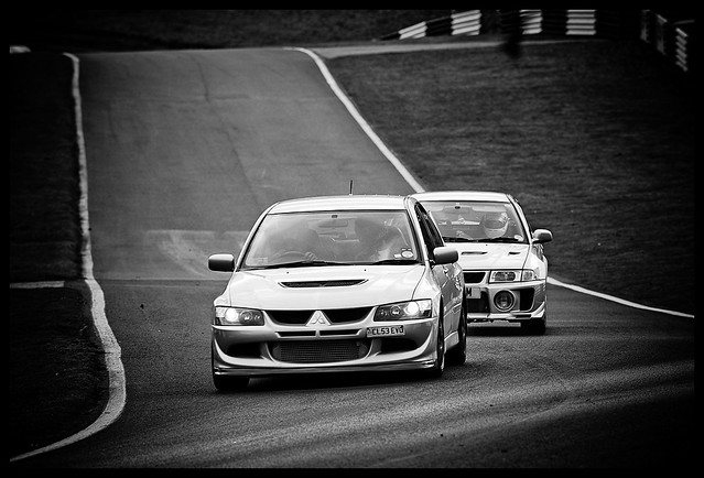 Evo 6 chasing Evo 8 (Old v's New)