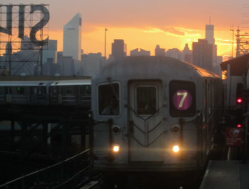 Subway Train Line 7. New York. USA