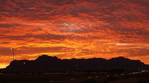morning red arizona orange mountain yellow sunrise early mesa