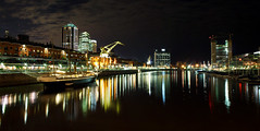 Puerto Madero at night