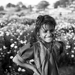A break from picking flowers - Ujjain, Inidia