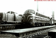 SNCB/DB - Loco diesel 204.008 - Köln Hbf - 05/1966 - Photo: J.J.B.