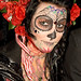 DSC00702 - Skull Makeup - Red Roses - Dia de los Muertos - Halloween (San Francisco) by loupiote (Old Skool) pro