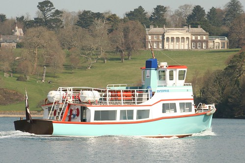 Enterprise Boat off Trelissick House and Estate, River Fal, Cornwall by Claire Stocker (Stocker Images)