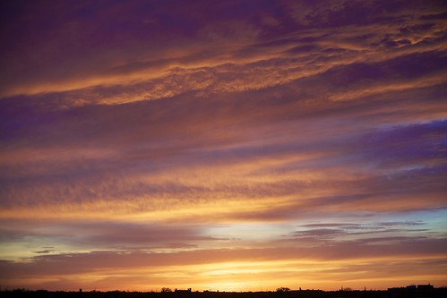 sunset sky cloud chicago illinois horizon chicagoist