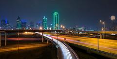 Dallas Bridge View at Night
