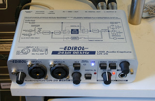Edirol USB Audio Capture UA-25 24bit 96kHz soundcard