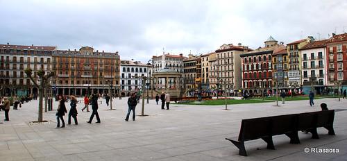 Panorámica de la Plaza del Castillo