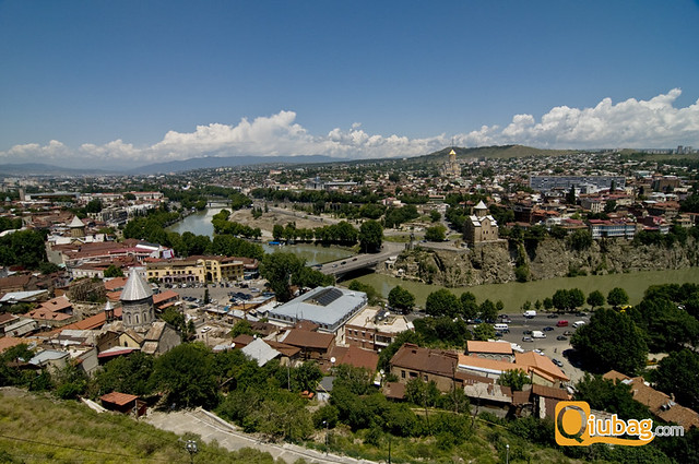 Panorama stolicy Gruzji - Tbilisi