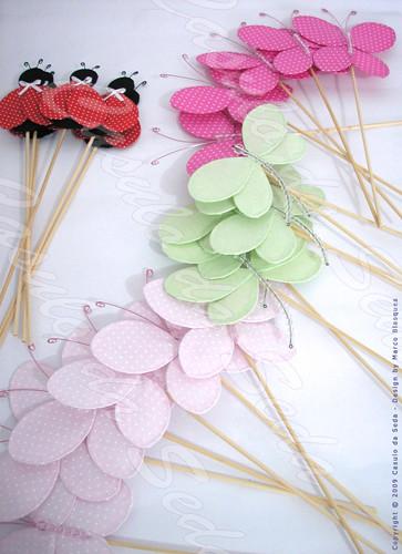 decoracao jardim encantado passo a passoPeças Decorativas de Tecido