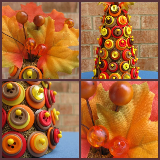 The details of the Autumn Button Tree