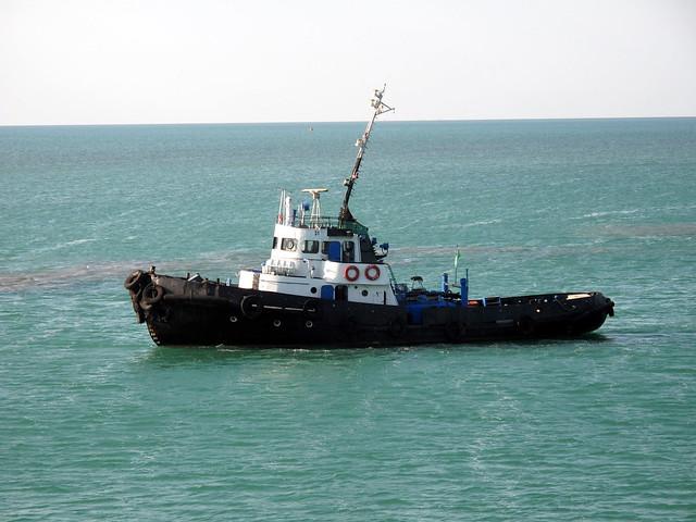 Turkmeni Coast Guard at Turkmenbashi Ferry Port