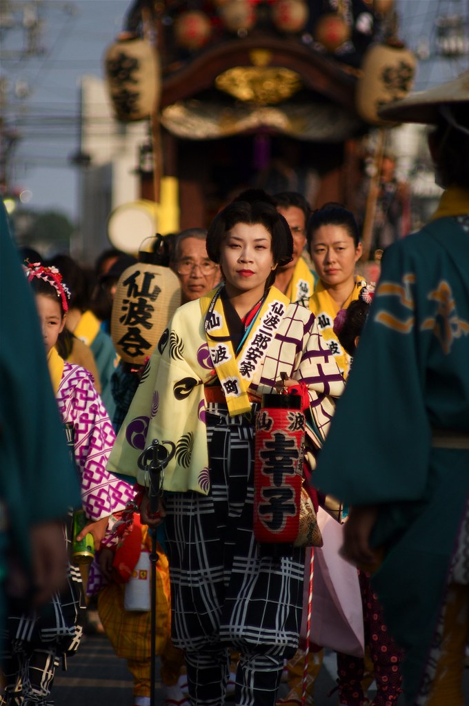 Leading A March At The Kawagoe Festival
