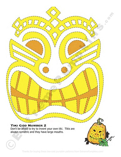 Pumpkin Carving Template: Terror-ific Tiki Template (Printable