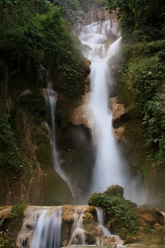waterfall laos bussabar