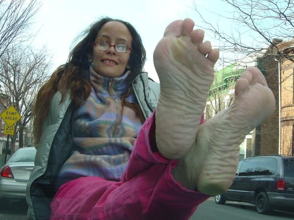 wrinkeld foot fetish