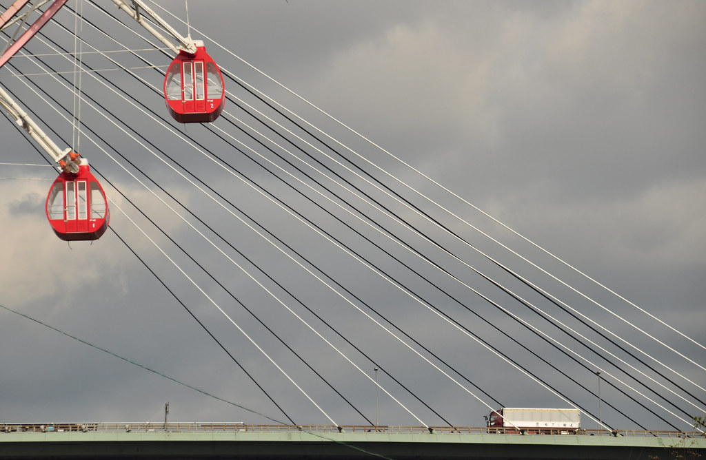 Cabins of Osaka's Ferris wheel