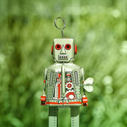 Retro Bokeh Robot