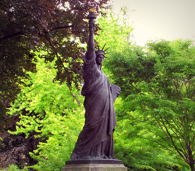 The Statue Of Liberty In Luxembourg Gardens This Bronze St Flickr Photo Sharing
