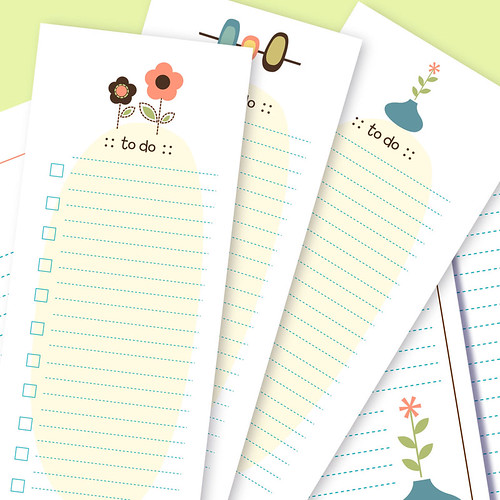 Printable Mod Stationery: To Do List Notes