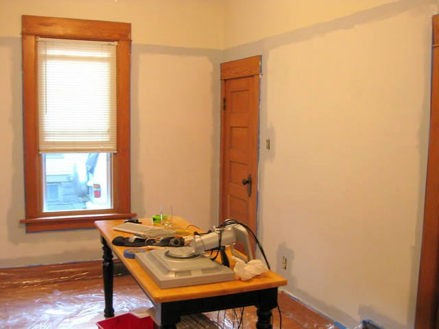 Painting the living/computer room