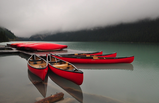 The Fleet of Red Canoes