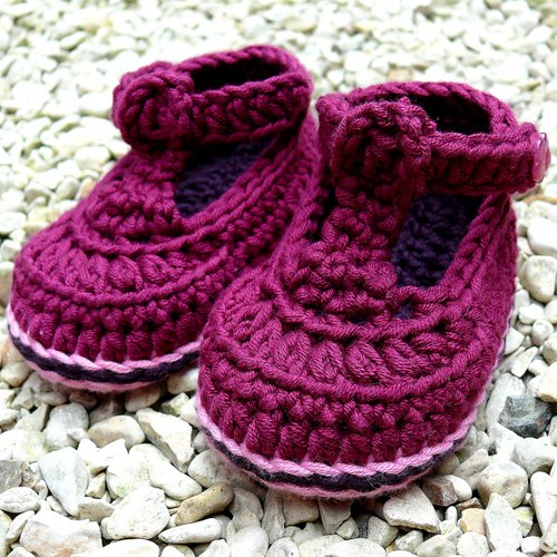 Posh Joe Crochet Baby Bootees 9-12 months Booties