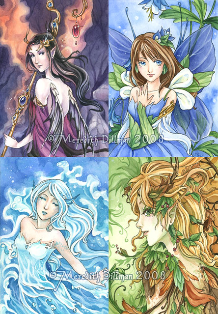 Elemental fairies flickr photo sharing for Fairy painting easy