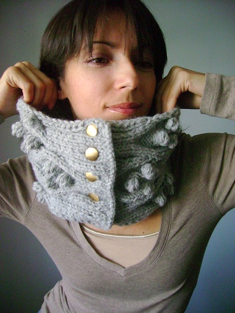 PDF Knitting pattern Handknit chunky cable neckwarmer cowl scarf