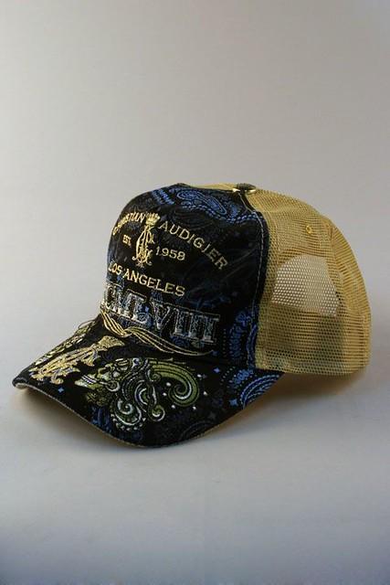 ... Christian Audigier Millenium Black Trucker Hat - 4  a0163b26745