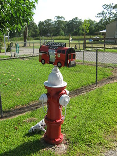 Fire Engine Novely Mailboxes Install Gallery