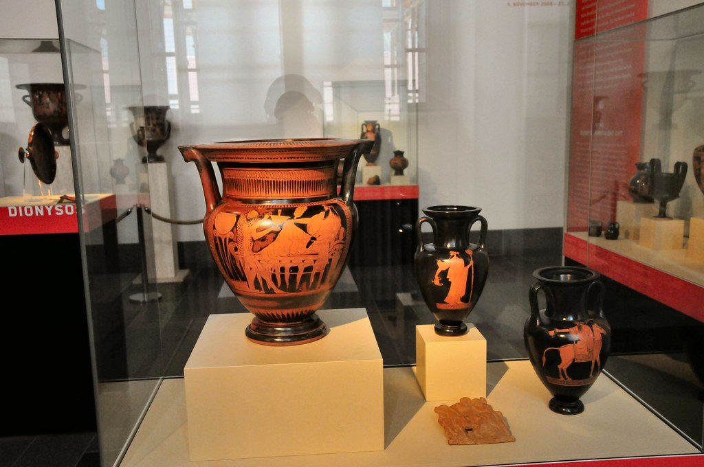 Greek Vases at Pergamon Museum Berlin Germany