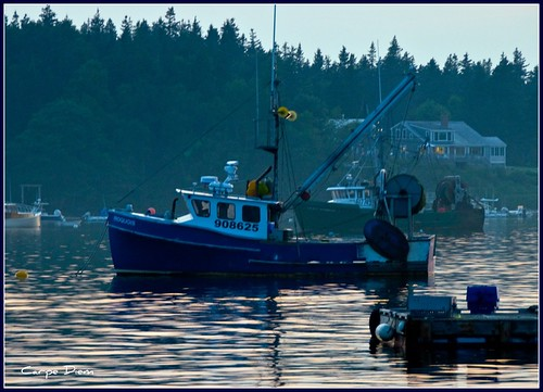 Lobster Boat at Twilight