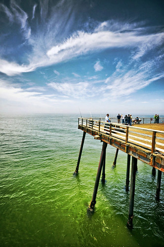california wood blue sea sky green clouds landscape pier fishing day guinness pismo arthurs angling
