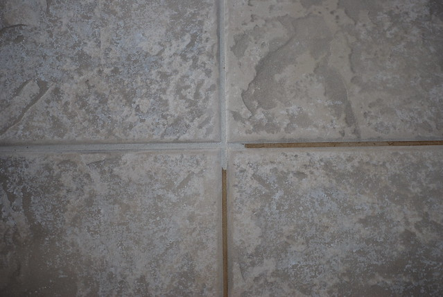 Grout before & after