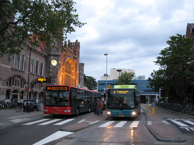 Zuidtangent at Haarlem, smart zebra crossing design