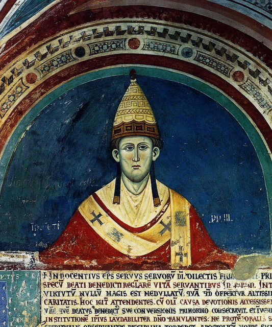 Pope Innocent III. Sacro Speco, monastery of Subiaco