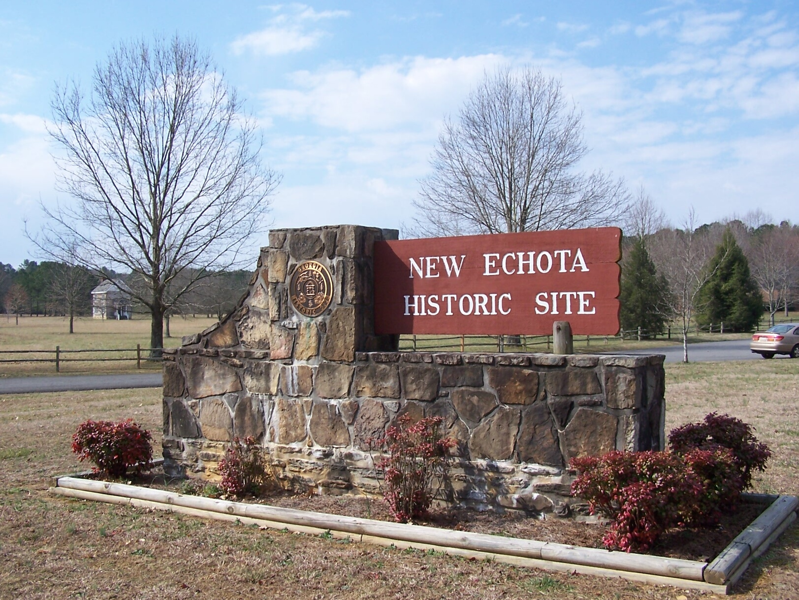 Entrance To New Echota Historic Site
