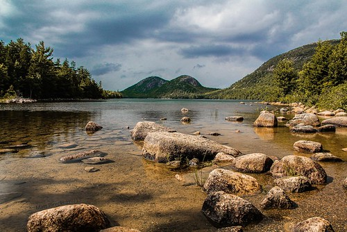 mountains me canon eos nationalpark pond rocks maine scenic dslr acadia jordon 60d