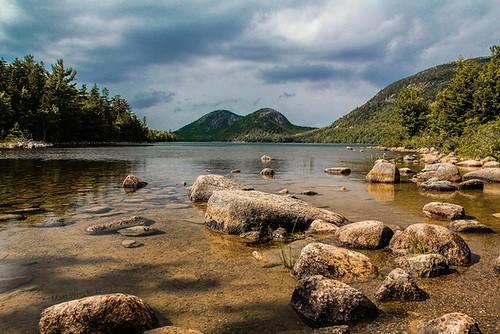 mountains me canon eos nationalpark pond rocks maine scenic dslr acadia jordon 60d