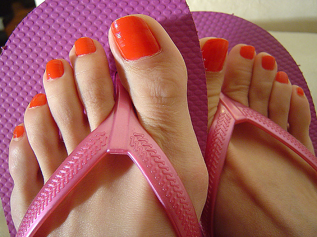 My red toes