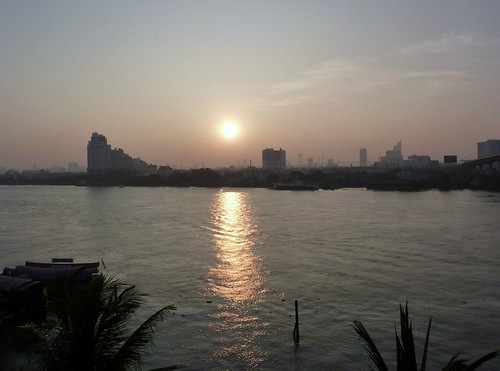 Sunrisre, Chao Phraya river, Bangkok