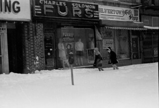 Boro Park Brooklyn  businesses Jewish Community Winter 1975-76 Minolta SRT-102  Pic D