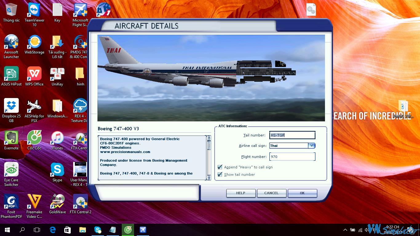 PMDG - PMDG 747 v3 crack | Viet Nam Simulator Team - Diễn